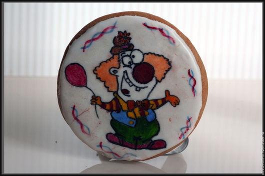 Кулинарные сувениры ручной работы. Ярмарка Мастеров - ручная работа. Купить Сумасшедший клоун. Handmade. Комбинированный, пряничный клоун, глазурь