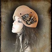 """Аксессуары ручной работы. Ярмарка Мастеров - ручная работа Шляпка """"Леопардовый принт"""". Handmade."""