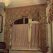 Для дома и интерьера ручной работы. Ярмарка Мастеров - ручная работа Штора. макраме на окно. Handmade.
