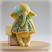 """Куклы и игрушки ручной работы. Ярмарка Мастеров - ручная работа Слоник """"Лимонный"""". Handmade."""