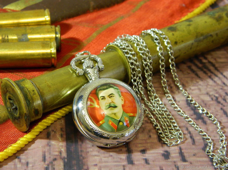 SOVIET-STYLE 'GENERALISSIMUS' POCKET WATCH, Pocket watch, Saratov,  Фото №1