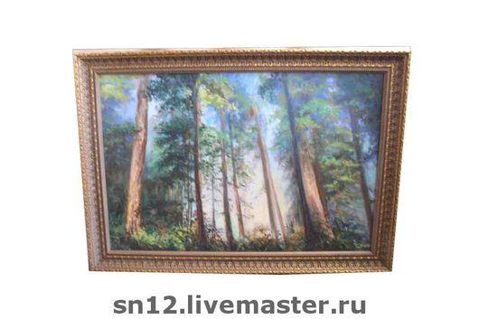 """Пейзаж ручной работы. Ярмарка Мастеров - ручная работа. Купить Картина """"Лесная прохлада"""". Handmade. Пейзаж, лес, масло"""