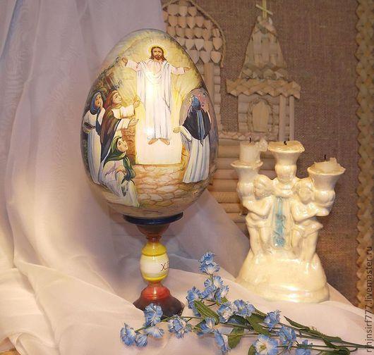 Яйца ручной работы. Ярмарка Мастеров - ручная работа. Купить Яйцо пасхальное роспись Воскресение Христово. Handmade. Яйцо пасхальное