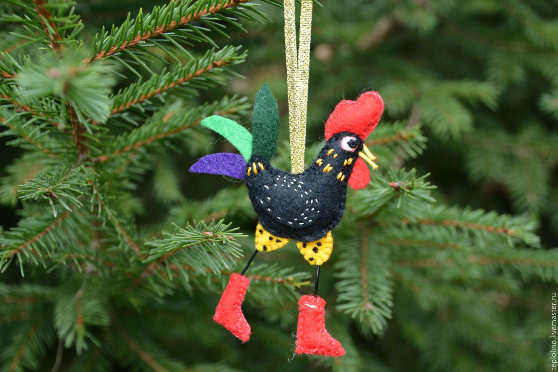 Christmas Tree Toys Handmade.Christmas Tree Toy Cock