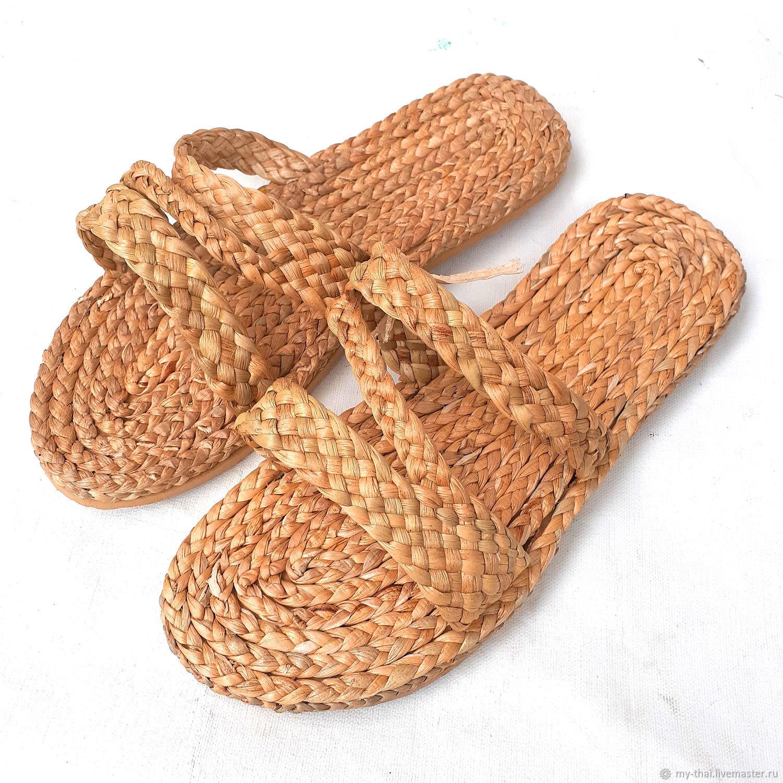 Плетеные тапочки ручной работы, Шлёпки, Бангкок,  Фото №1