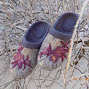 """Обувь ручной работы. Ярмарка Мастеров - ручная работа Тапочки """" Морозные узоры"""". Handmade."""