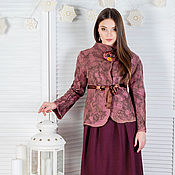 """Одежда ручной работы. Ярмарка Мастеров - ручная работа Жакет """" глинтвейн"""". Handmade."""