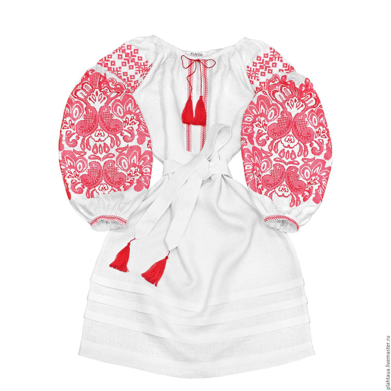 """Платье-вышиванка """"Цвет Папоротника"""" белое, Dresses, Kiev,  Фото №1"""