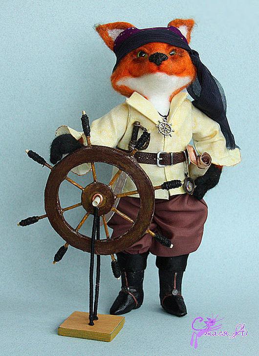Игрушки животные, ручной работы. Ярмарка Мастеров - ручная работа. Купить Капитан Хитрый Фокс-Воробей. Handmade. Пират, оранжевый