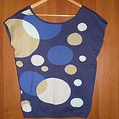 Винтаж handmade. Livemaster - original item Knitted jacket with short sleeves, knitted top Benetton. Handmade.