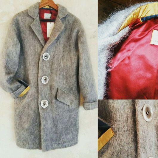 Верхняя одежда ручной работы. Ярмарка Мастеров - ручная работа. Купить Легкое теплое пальто из мохера и шелка. Handmade. Пальто