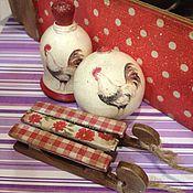 Подарки к праздникам ручной работы. Ярмарка Мастеров - ручная работа Набор новогодний Петушок- символ года. Handmade.