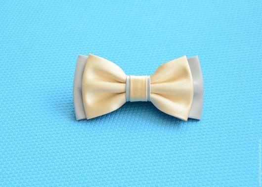 """Галстуки, бабочки ручной работы. Ярмарка Мастеров - ручная работа. Купить Бабочка-галстук """"Небесная легкость"""". Handmade. Кремовый, свадьба"""