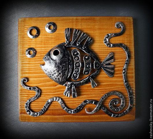 """Статуэтки ручной работы. Ярмарка Мастеров - ручная работа. Купить Панно """"Рыба"""". Handmade. Авторская ручная работа, ковка скульптура"""