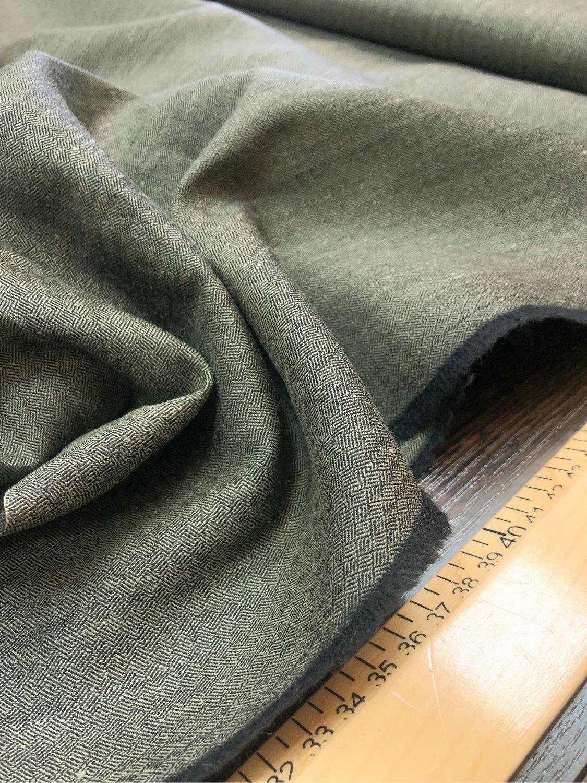 Fabric Italian wool, Italian grey-green wool, Fabric, Taganrog,  Фото №1