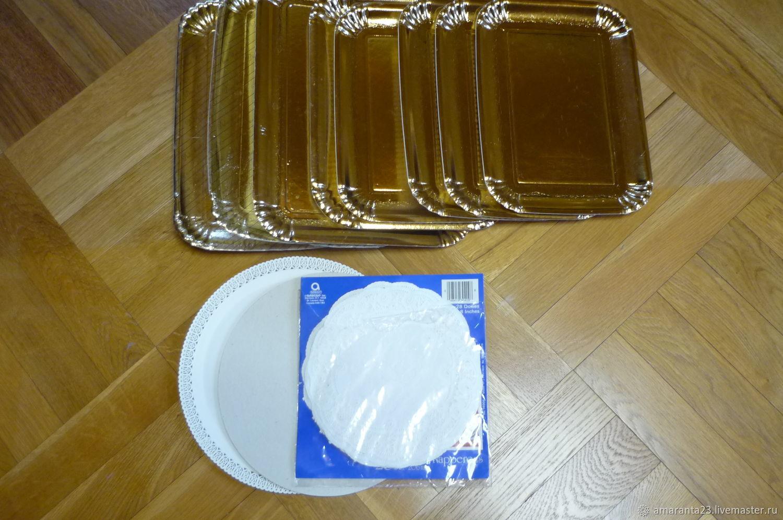 Поддоны для кондитерских изделий, Упаковочная бумага, Москва,  Фото №1