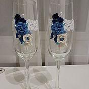 """Свадебный салон ручной работы. Ярмарка Мастеров - ручная работа свадебные бокалы """"Сияние"""". Handmade."""