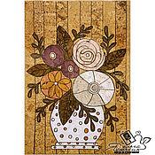 """Картины и панно handmade. Livemaster - original item Интерьерное панно из пробки """"Напольная ваза"""". Handmade."""