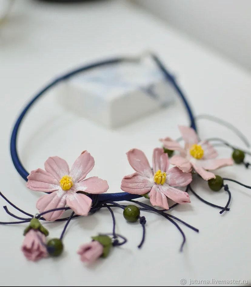 Delicate cosmos bipinnatus, Necklace, Vladivostok,  Фото №1