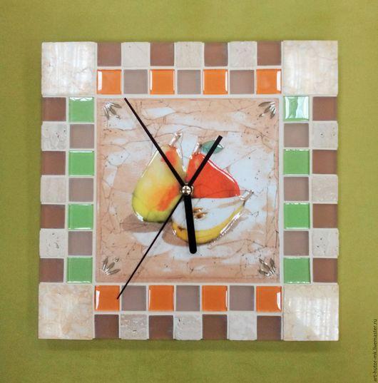 """Часы для дома ручной работы. Ярмарка Мастеров - ручная работа. Купить Часы с мозаикой """"Дюшес"""". Handmade. Часы для загородного дома"""