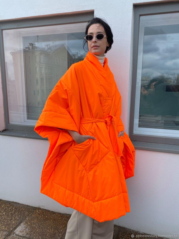 Orange kimono coat, Coats, Moscow,  Фото №1