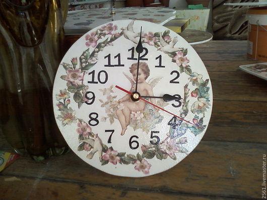 Часы для дома ручной работы. Ярмарка Мастеров - ручная работа. Купить Часы. Handmade. Белый, Декупаж, декупажные материалы