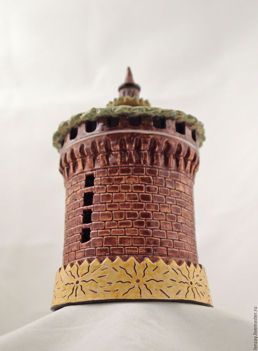 Колокольчики ручной работы. Ярмарка Мастеров - ручная работа. Купить Колокольчик Замок Сфорца. Handmade. Коричневый, глазурь, итальянский, башни
