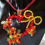Украшения handmade. Livemaster - original item The floral pendant in the shape of a heart with flowers Love heart. Handmade.