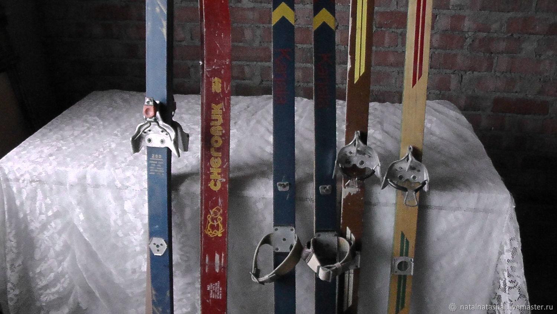 винтаж лыжи деревянные советские