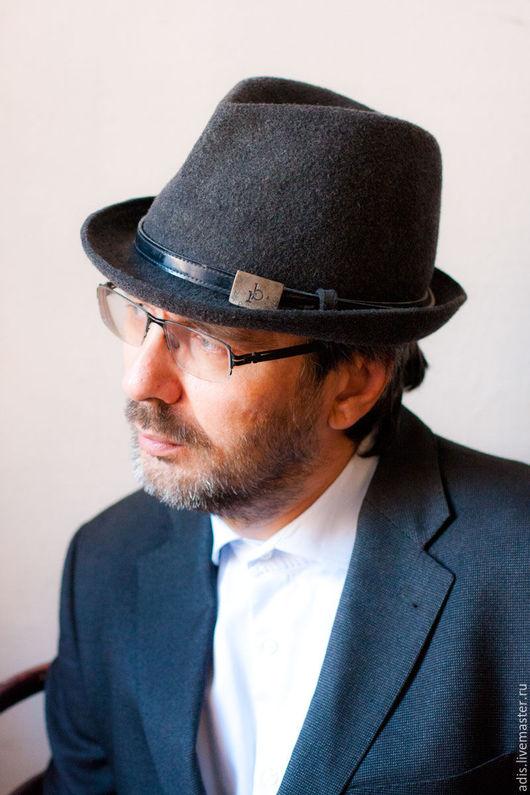 Шляпы ручной работы. Ярмарка Мастеров - ручная работа. Купить Мужская фетровая шляпа 01. Handmade. Шляпа, фетровая федора