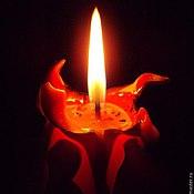 Для дома и интерьера ручной работы. Ярмарка Мастеров - ручная работа Резная свеча Пламя Фламенко. Handmade.