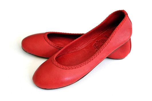 Обувь ручной работы. Ярмарка Мастеров - ручная работа. Купить Aise. Балетки женские кожаные для дома, офиса, прогулок. Handmade.