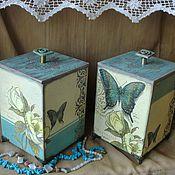 """Для дома и интерьера ручной работы. Ярмарка Мастеров - ручная работа """"Бабочки""""набор коробов. Handmade."""
