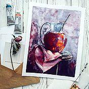 """Картины и панно ручной работы. Ярмарка Мастеров - ручная работа Акварель """"Фруктово-ягодная"""". Handmade."""