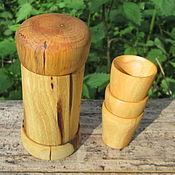 Посуда ручной работы. Ярмарка Мастеров - ручная работа Стопки деревянные в футляре-тубусе. Handmade.