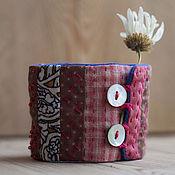 Украшения ручной работы. Ярмарка Мастеров - ручная работа Браслет текстильный Лоскутный. Handmade.