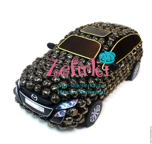 Подарки для мужчин, ручной работы. Ярмарка Мастеров - ручная работа. Купить Машина из конфет Mazda CX7 машинка подарок мужчине водителю. Handmade.