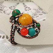 Украшения ручной работы. Ярмарка Мастеров - ручная работа кольцо Цветные брызги. Handmade.