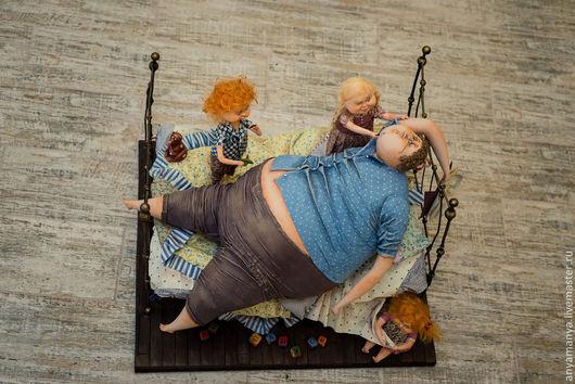 Коллекционные куклы ручной работы. Ярмарка Мастеров - ручная работа. Купить Детские шалости. Handmade. Дети, Паперклей