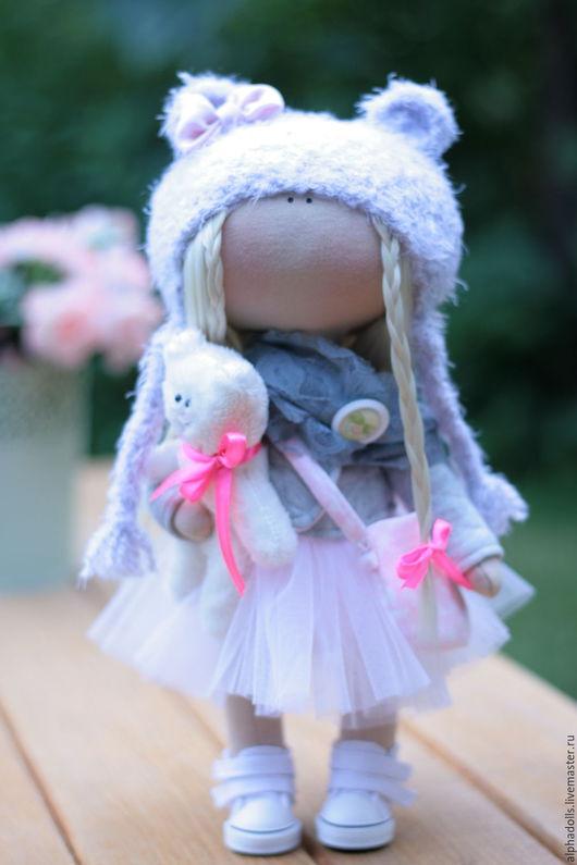 Коллекционные куклы ручной работы. Ярмарка Мастеров - ручная работа. Купить Люся. Интерьерная кукла.. Handmade. Розовый, кукла Тильда