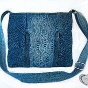 Классическая сумка ручной работы. Ярмарка Мастеров - ручная работа Джинсовая сумка на плечо сумка для девушки летняя сумка. Handmade.