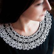 Аксессуары handmade. Livemaster - original item Tatting lace collar. Handmade.