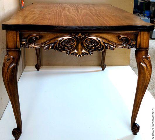 Мебель ручной работы. Ярмарка Мастеров - ручная работа. Купить Стол резной. Handmade. Мебель, резная мебель, шкаф, сосна
