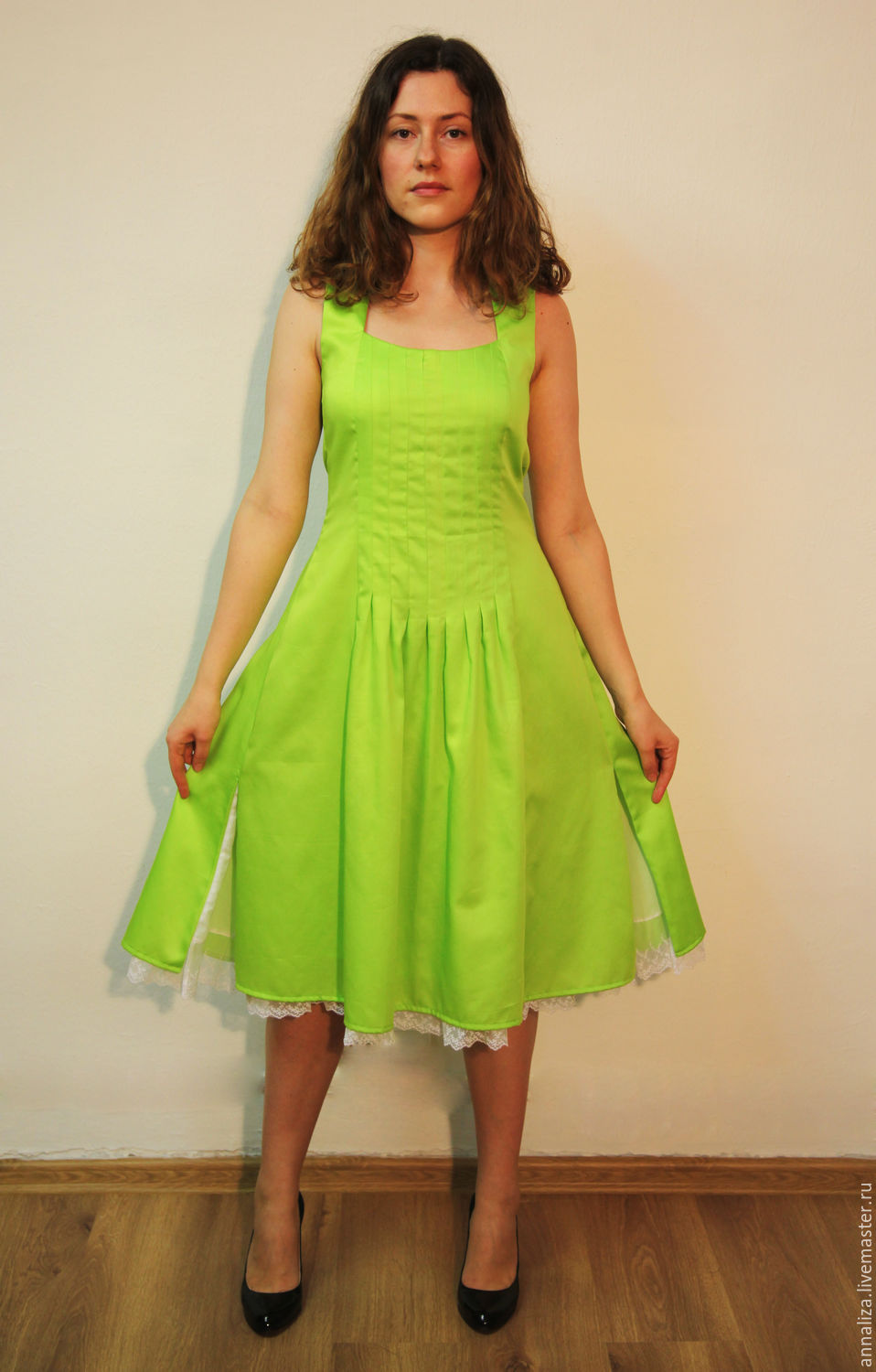 Women's summer sundress 'Apple Green', Sundresses, Moscow,  Фото №1