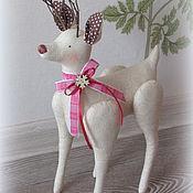Куклы и игрушки handmade. Livemaster - original item Tilda Animals: Tilda Bambi Deer. Handmade.