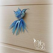 Украшения handmade. Livemaster - original item Brooch Hummingbird.Brooch miniature -