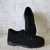 Обувь ручной работы. Ярмарка Мастеров - ручная работа Войлочные туфли Black. Handmade.