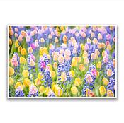 """Картины и панно ручной работы. Ярмарка Мастеров - ручная работа Фотография на холсте - """"Тюльпаны 2"""". Handmade."""
