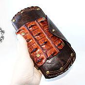Сумки и аксессуары ручной работы. Ярмарка Мастеров - ручная работа Кошелёк из натуральной кожи с настоящим крокодилом. Handmade.