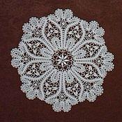 Для дома и интерьера handmade. Livemaster - original item white lace doily. Handmade.